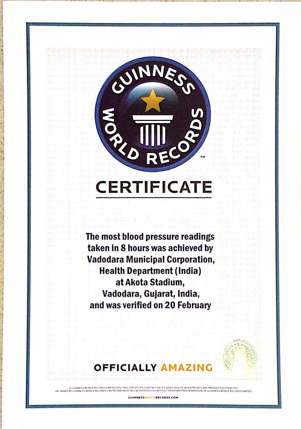 Health Department Food Certificate
